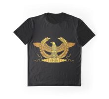 Roman Golden Eagle on Black Graphic T-Shirt