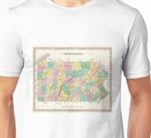 Vintage Map of Pennsylvania (1827) Unisex T-Shirt