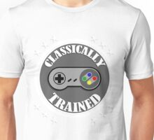CLASSICALLY TRAINED RETRO 4 BUTTON VIDEO GAME CONTROLLER Unisex T-Shirt