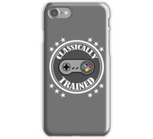 CLASSICALLY TRAINED RETRO 4 BUTTON VIDEO GAME CONTROLLER iPhone Case/Skin