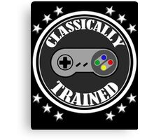 CLASSICALLY TRAINED RETRO 4 BUTTON VIDEO GAME CONTROLLER Canvas Print