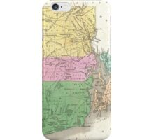 Vintage Map of Rhode Island (1827) iPhone Case/Skin