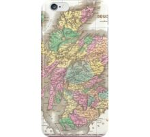 Vintage Map of Scotland (1827)  iPhone Case/Skin