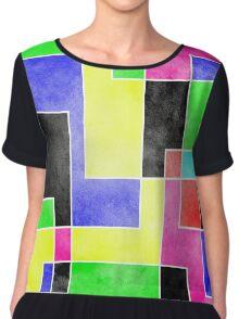 Colour Pieces Chiffon Top