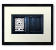 The Box - Door Framed Print