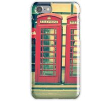 Phone booth in London. iPhone Case/Skin