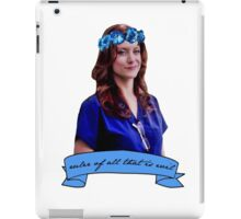 Addison Montgomery - Ruler of all that is evil iPad Case/Skin