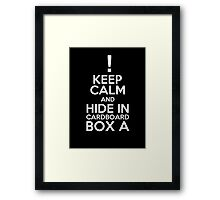 Keep Calm and Cardboard Box Framed Print