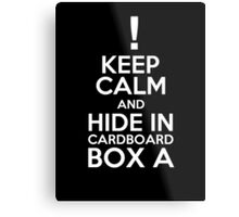 Keep Calm and Cardboard Box Metal Print