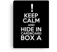 Keep Calm and Cardboard Box Canvas Print