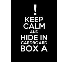 Keep Calm and Cardboard Box Photographic Print