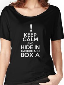 Keep Calm and Cardboard Box Women's Relaxed Fit T-Shirt