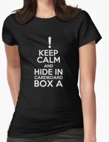 Keep Calm and Cardboard Box Womens Fitted T-Shirt