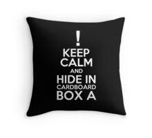 Keep Calm and Cardboard Box Throw Pillow