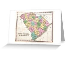 Vintage Map of South Carolina (1827) Greeting Card
