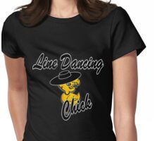 Line Dancing Chick #4 Womens Fitted T-Shirt