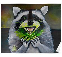 Kiki; the Curious Dumpster Panda Finds a Firefly Poster