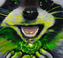Kiki; the Curious Dumpster Panda Finds a Firefly Sticker