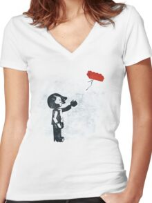 A Piece of Me Women's Fitted V-Neck T-Shirt