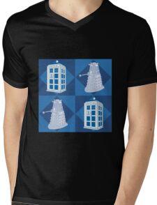 Doctor Who - Tardis Dalek Mens V-Neck T-Shirt