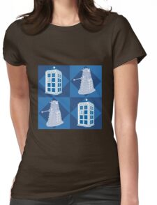 Doctor Who - Tardis Dalek Womens Fitted T-Shirt