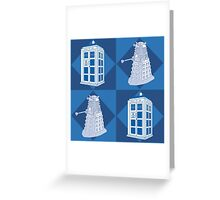 Doctor Who - Tardis Dalek Greeting Card