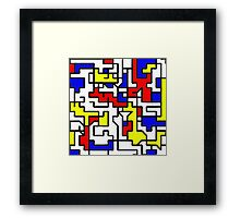 Primary Circuits Framed Print