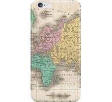 Vintage Map of The World (1827) iPhone Case/Skin