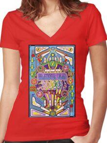 GratefulDead - Pinball Women's Fitted V-Neck T-Shirt