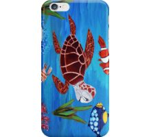 Swimming the sea iPhone Case/Skin