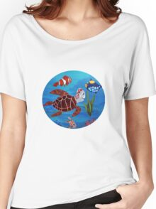 Swimming the sea Women's Relaxed Fit T-Shirt