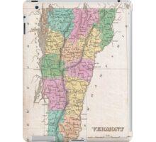 Vintage Map of Vermont (1827) iPad Case/Skin