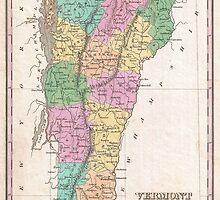 Vintage Map of Vermont (1827) by BravuraMedia