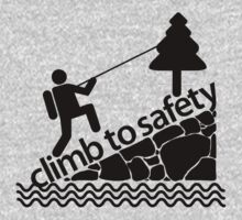 Climb To Safety Grey T-Shirt