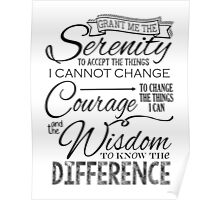 Serenity Prayer - Chalk Typography Poster