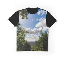 Majestic overview to the beautiful valley from the top of the hill, Alsace, France Graphic T-Shirt