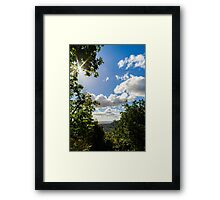 Majestic overview to the beautiful valley from the top of the hill, Alsace, France Framed Print