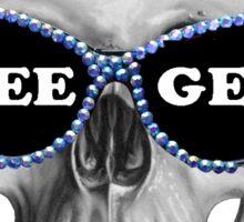 Dee Gee Skull Sticker