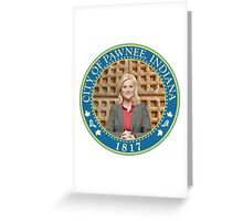 Parks and Rec Pawnee Seal Greeting Card