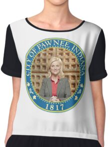 Parks and Rec Pawnee Seal Chiffon Top