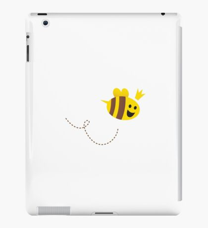 Mother / Queen bee isolated on white background. Vector Illustration. iPad Case/Skin