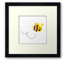 Mother / Queen bee isolated on white background. Vector Illustration. Framed Print