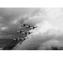 Cloud riders: the Red Arrows black and white version Photographic Print
