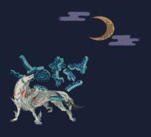 Okami with Moon by FireWLizard