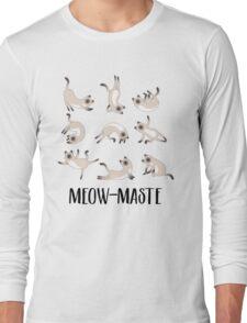 Meow-maste Namaste Yoga Cats Long Sleeve T-Shirt