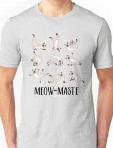 Meow-maste Namaste Yoga Cats Unisex T-Shirt