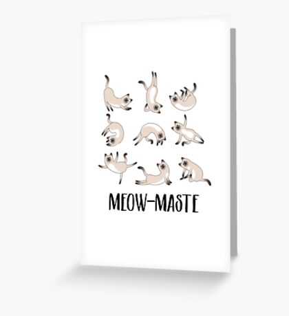 Meow-maste Namaste Yoga Cats Greeting Card