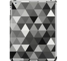 Black and white triangles iPad Case/Skin