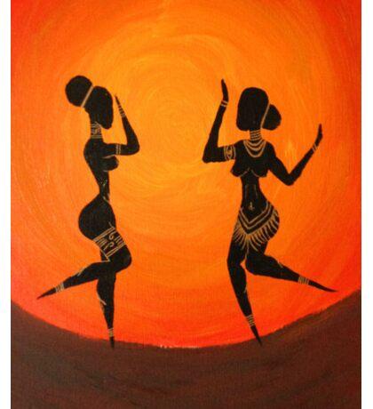 SUNSET DANCERS | Naked Gold Sticker