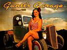 1956 Pinup Calendar Page from Gantt's Garage by ChasSinklier